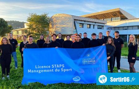 étudiants de la licence Management du sport (STAPS) de Nice
