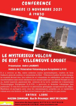 Conférence - Le mystérieux volcan de Biot Villeneuve Loubet